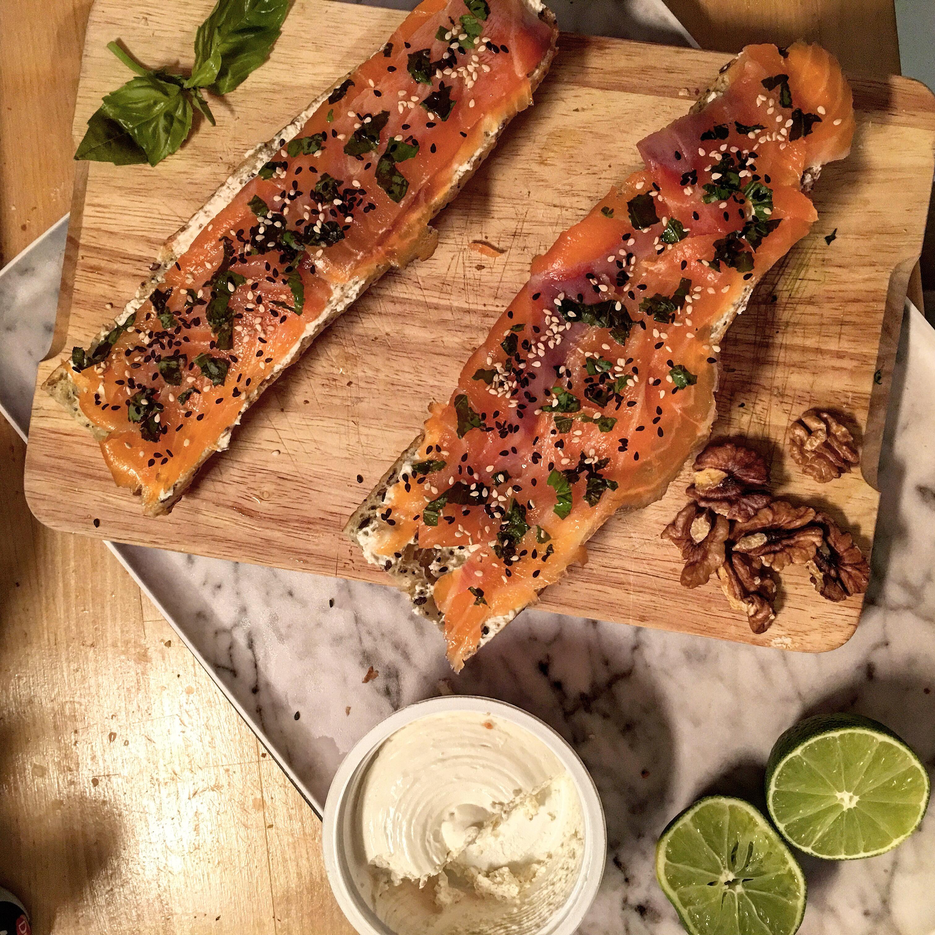 Tartines fraicheur salmon