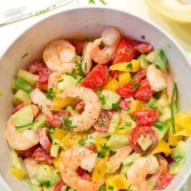 Salade tomates, avocat, crevettes | Cahier de gourmandises